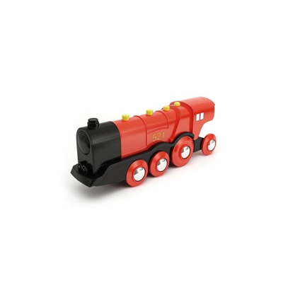 红色塑料玩具火车3D模型【ID:415263976】