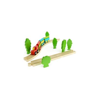 木艺玩具火车3D模型【ID:415264997】