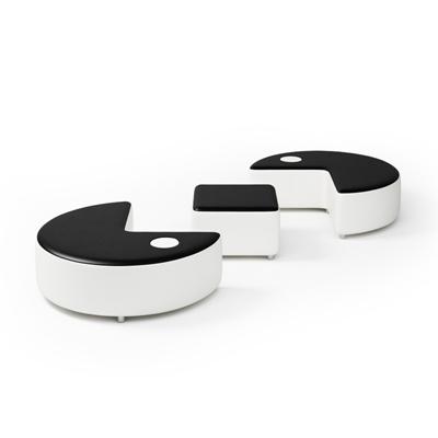 现代皮质沙发凳3D模型【ID:415266216】
