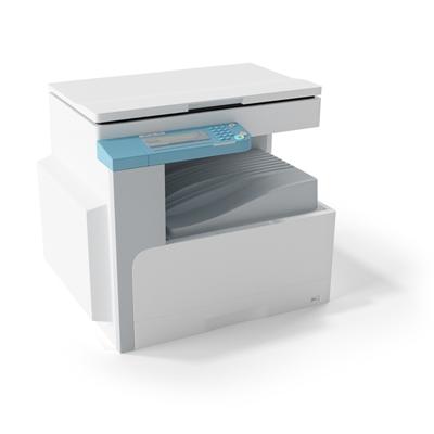 白色打印机3D模型【ID:415275329】