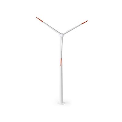 白色风力发电机3D模型【ID:415276222】