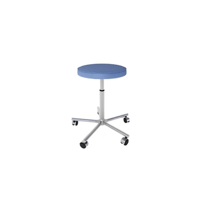 现代蓝色圆形布艺凳子3D模型【ID:415280387】