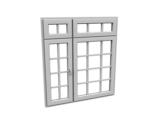 现代长方形玻璃平开窗3D模型【ID:415336956】