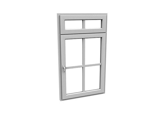 现代长方形玻璃平开窗3D模型【ID:415336984】