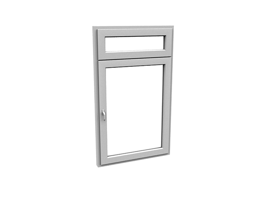 现代长方形玻璃平开窗3D模型【ID:415336986】
