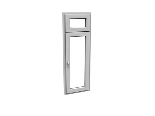 现代长方形玻璃平开窗3D模型【ID:415336988】