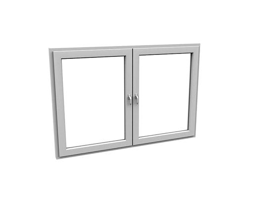 现代长方形玻璃平开窗3D模型【ID:415337973】