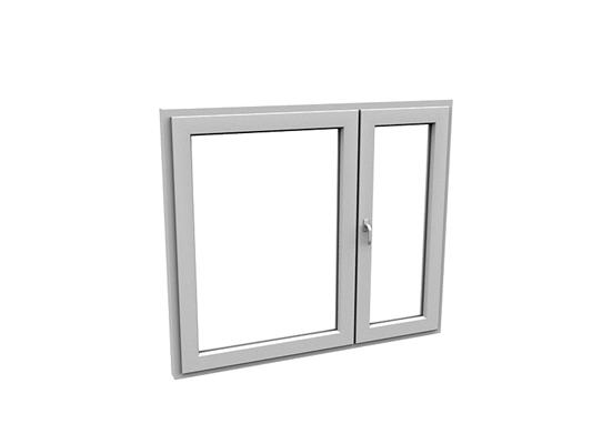 现代长方形玻璃平开窗3D模型【ID:415337977】