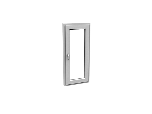 现代长方形玻璃平开窗3D模型【ID:415337983】