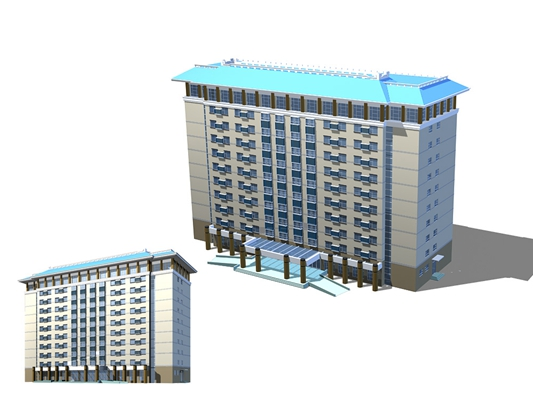 户外办公楼93D模型【ID:415359554】