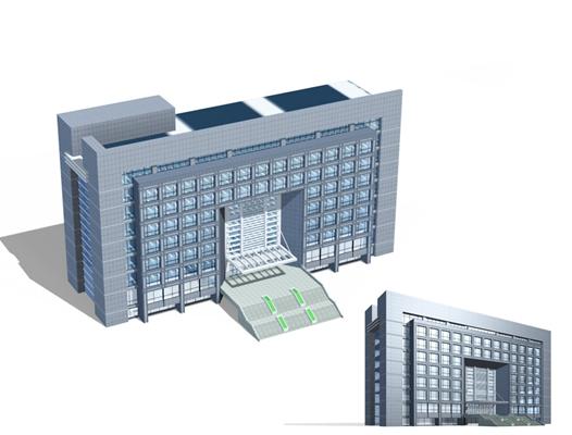 户外办公楼123D模型【ID:415359559】