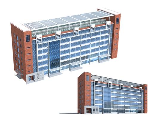 户外办公楼143D模型【ID:415359562】
