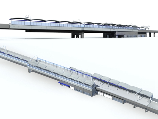 户外机场车站53D模型【ID:415360862】