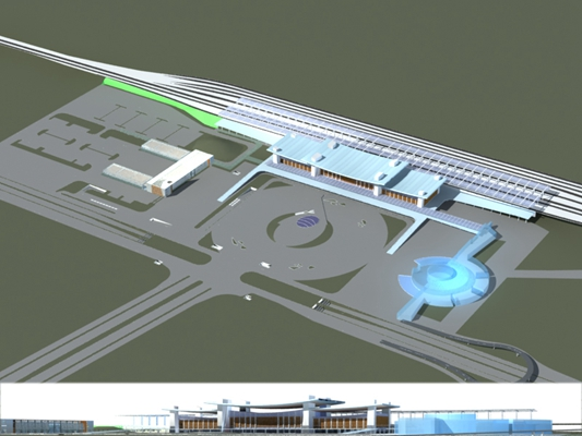 户外机场车站123D模型【ID:415360873】