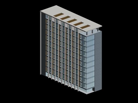 户外高层公建1803D模型【ID:415363792】