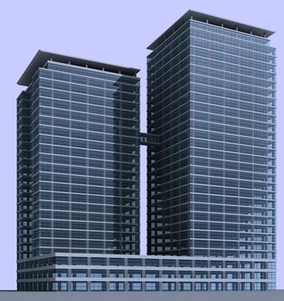 户外高层公建2603D模型【ID:415365721】