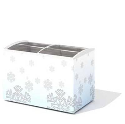 白色冰柜3D模型【ID:415417474】