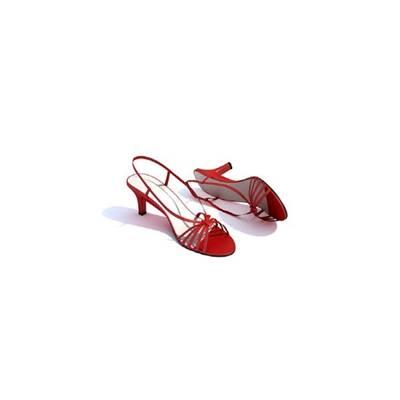 红色鞋子3D模型【ID:415426684】