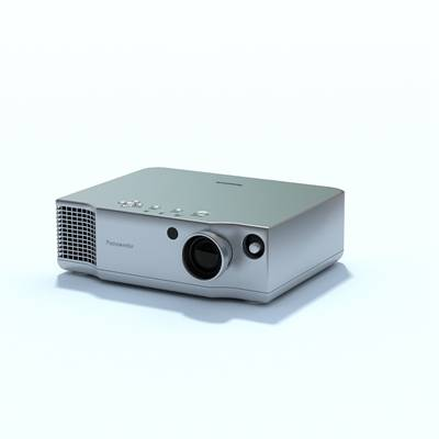 灰色投影仪3D模型【ID:415427261】