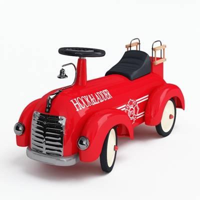 红色塑料玩具汽车3D模型【ID:415437806】