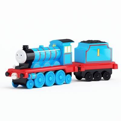 蓝色塑料玩具火车3D模型【ID:415437984】