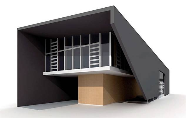 户外小型办公楼63D模型【ID:415471534】