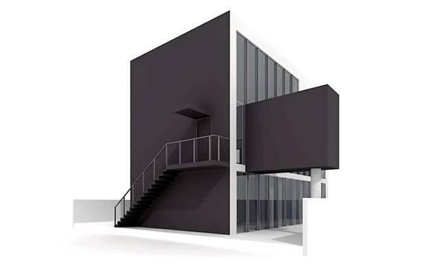 户外小型办公楼193D模型【ID:415471556】
