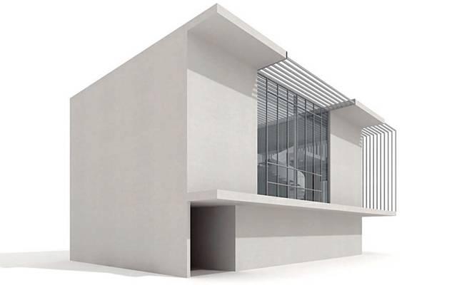 户外小型办公楼223D模型【ID:415471561】