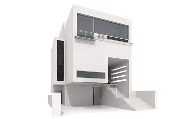 户外小型办公楼243D模型【ID:415471565】