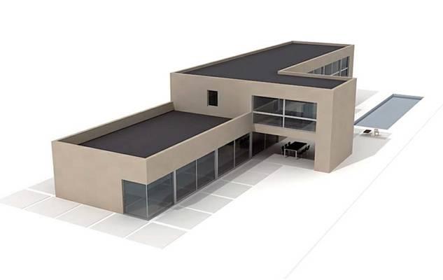 户外小型办公楼253D模型【ID:415471567】