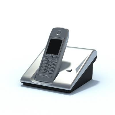 银色电话3D模型【ID:415471620】
