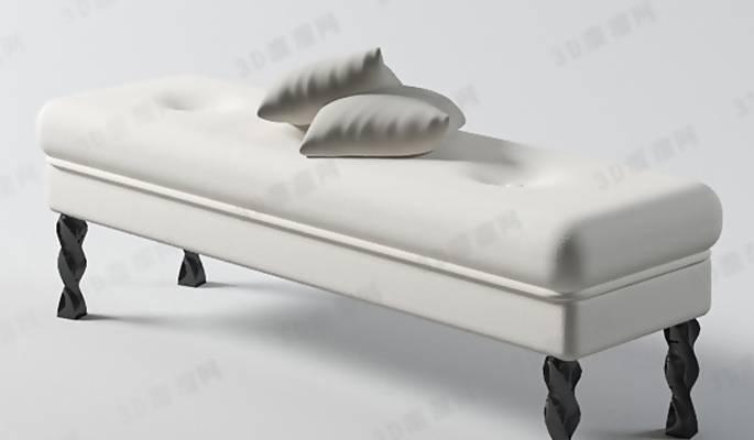 床尾凳113D模型【ID:416919495】