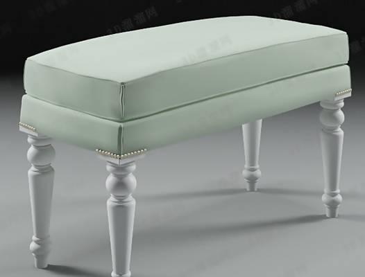 床尾凳153D模型【ID:416920402】