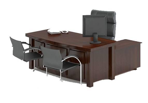 办公桌椅组合13D模型【ID:416929105】