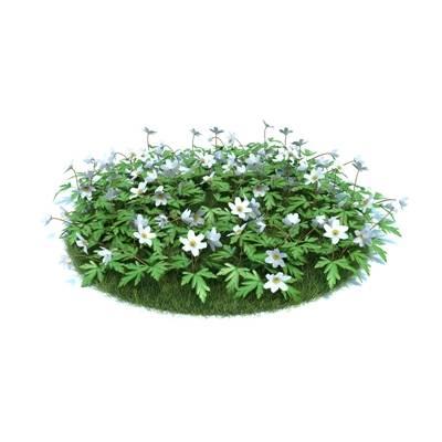 绿色草坪3D模型【ID:416930005】