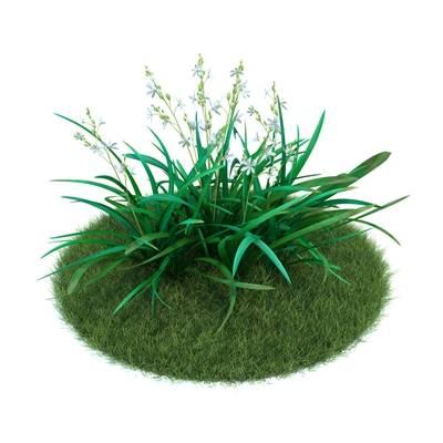 绿色草坪3D模型【ID:416930025】