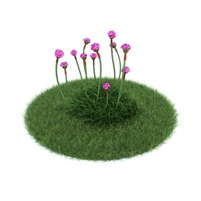 绿色草坪3D模型【ID:416930069】