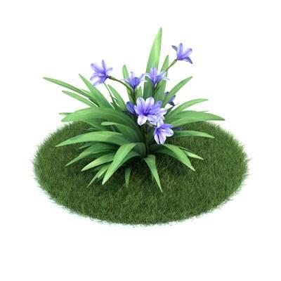 绿色草坪3D模型【ID:416931043】