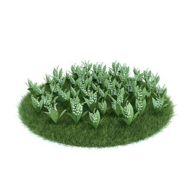 绿色草坪3D模型【ID:416935023】