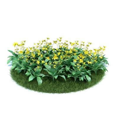 黄色草坪3D模型【ID:416936099】