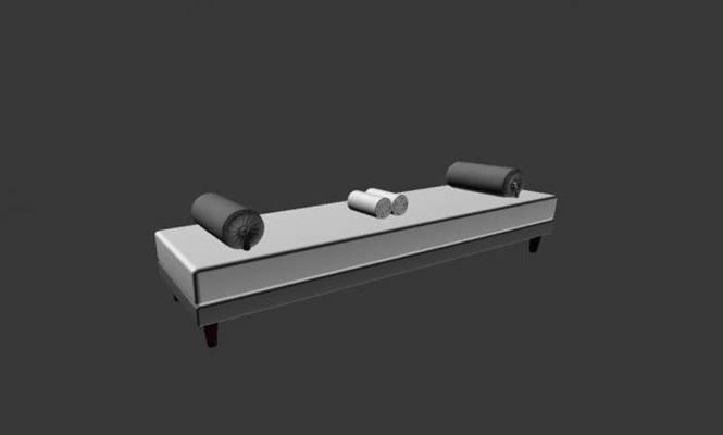 床尾凳33D模型【ID:416938433】