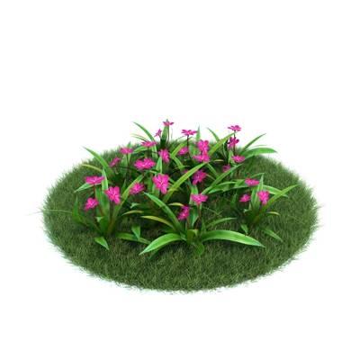 绿色草坪3D模型【ID:416940064】