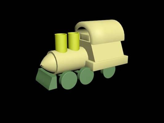 玩具火车13D模型【ID:416943946】