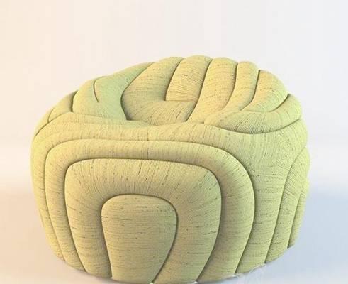 沙发凳153D模型【ID:416949249】