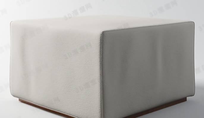 沙发凳423D模型【ID:416998217】