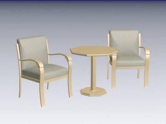 椅子茶几组合123D模型【ID:417012031】