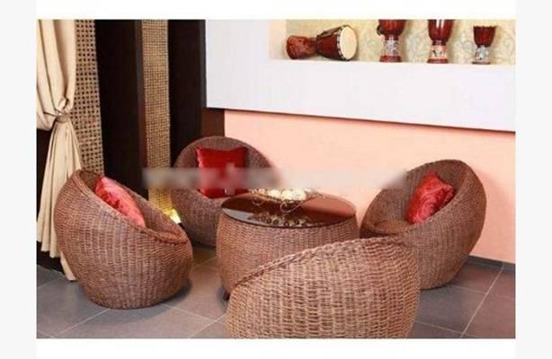 椅子茶几组合323D模型【ID:417013093】