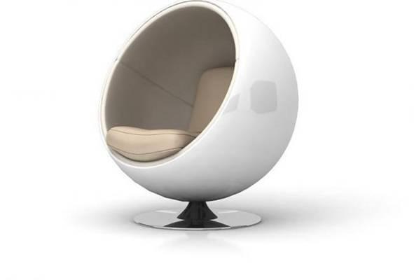 蛋壳椅23D模型【ID:417023048】