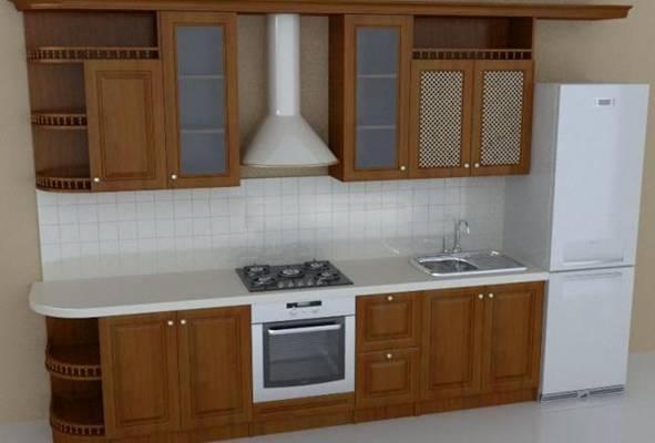 家居封闭厨房73D模型【ID:417074918】
