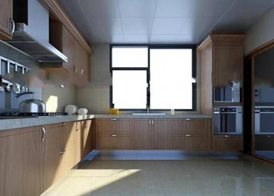家居封闭厨房103D模型【ID:417074936】
